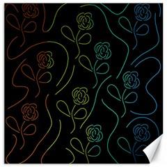 Floral pattern Canvas 12  x 12