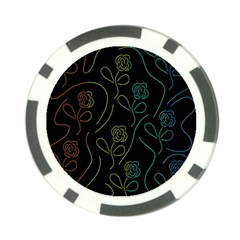 Floral pattern Poker Chip Card Guards (10 pack)