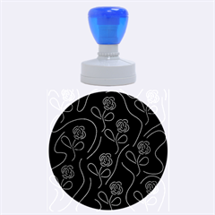 Floral pattern Rubber Round Stamps (Large)