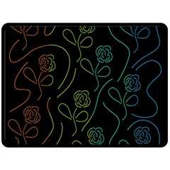 Floral pattern Double Sided Fleece Blanket (Large)