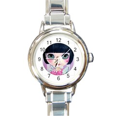 Annie The Sweetheart By Rosie Lee Round Italian Charm Watch