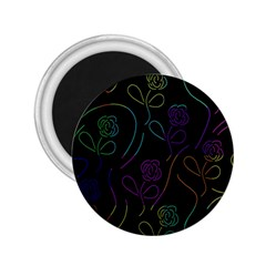 Flowers - pattern 2.25  Magnets