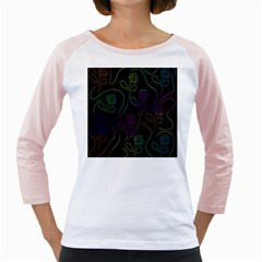 Flowers - pattern Girly Raglans