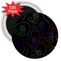 Flowers - pattern 3  Magnets (100 pack)