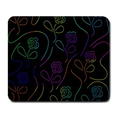 Flowers - pattern Large Mousepads