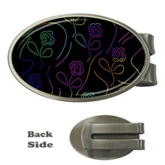 Flowers - pattern Money Clips (Oval)