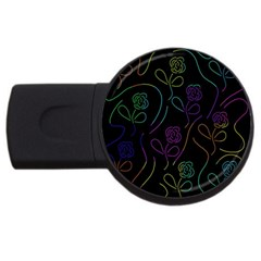 Flowers - pattern USB Flash Drive Round (2 GB)
