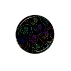 Flowers - pattern Hat Clip Ball Marker (10 pack)