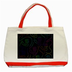 Flowers - pattern Classic Tote Bag (Red)