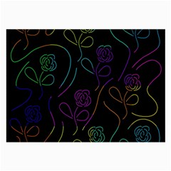 Flowers - pattern Large Glasses Cloth