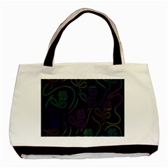 Flowers - pattern Basic Tote Bag (Two Sides)