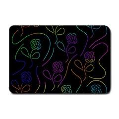 Flowers - pattern Small Doormat