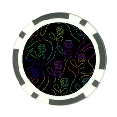 Flowers - pattern Poker Chip Card Guards