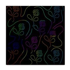 Flowers - pattern Face Towel
