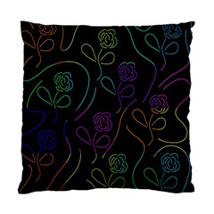 Flowers - pattern Standard Cushion Case (Two Sides)