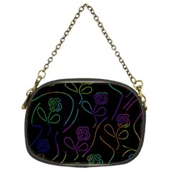 Flowers - pattern Chain Purses (Two Sides)