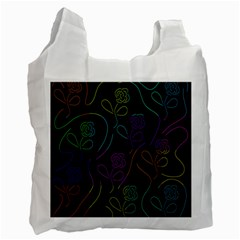 Flowers - pattern Recycle Bag (One Side)