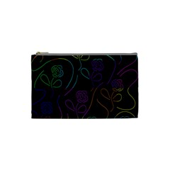 Flowers - pattern Cosmetic Bag (Small)