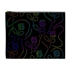 Flowers - pattern Cosmetic Bag (XL)