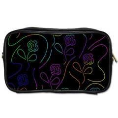 Flowers - pattern Toiletries Bags 2-Side