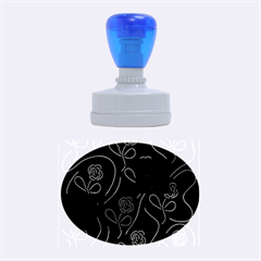Flowers - pattern Rubber Oval Stamps