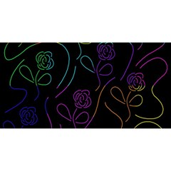 Flowers - pattern YOU ARE INVITED 3D Greeting Card (8x4)