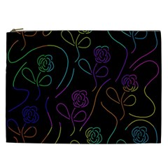 Flowers - pattern Cosmetic Bag (XXL)