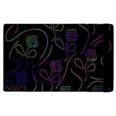 Flowers - pattern Apple iPad 3/4 Flip Case