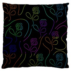Flowers - pattern Large Flano Cushion Case (One Side)