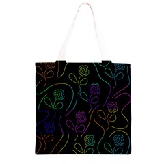 Flowers - pattern Grocery Light Tote Bag