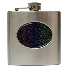 Colorful elegant pattern Hip Flask (6 oz)
