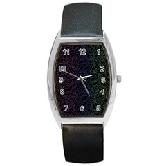 Colorful elegant pattern Barrel Style Metal Watch