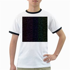 Colorful elegant pattern Ringer T-Shirts