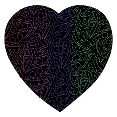 Colorful elegant pattern Jigsaw Puzzle (Heart)