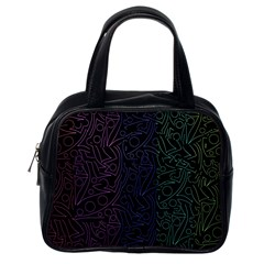 Colorful elegant pattern Classic Handbags (One Side)