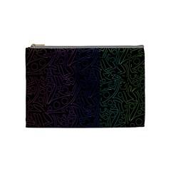 Colorful elegant pattern Cosmetic Bag (Medium)