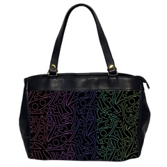 Colorful elegant pattern Office Handbags (2 Sides)