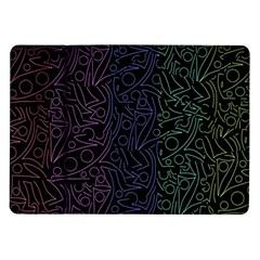 Colorful elegant pattern Samsung Galaxy Tab 10.1  P7500 Flip Case