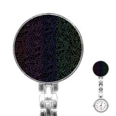 Colorful elegant pattern Stainless Steel Nurses Watch