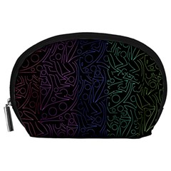 Colorful elegant pattern Accessory Pouches (Large)
