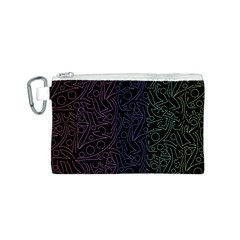 Colorful elegant pattern Canvas Cosmetic Bag (S)