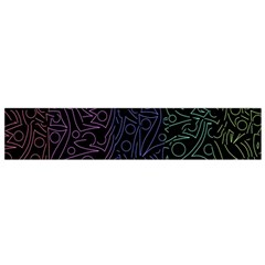Colorful elegant pattern Flano Scarf (Small)