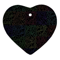 Colorful pattern Ornament (Heart)