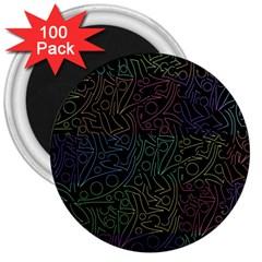 Colorful pattern 3  Magnets (100 pack)