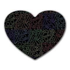 Colorful pattern Heart Mousepads