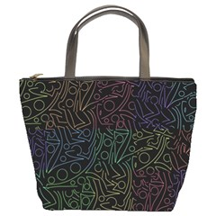 Colorful pattern Bucket Bags