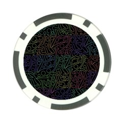 Colorful pattern Poker Chip Card Guards (10 pack)