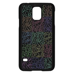 Colorful pattern Samsung Galaxy S5 Case (Black)