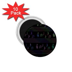 Music pattern 1.75  Magnets (10 pack)