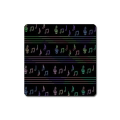 Music pattern Square Magnet